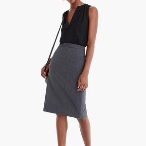 J. Crew #2 Pencil Skirt in Bi-Stretch Italian Wool